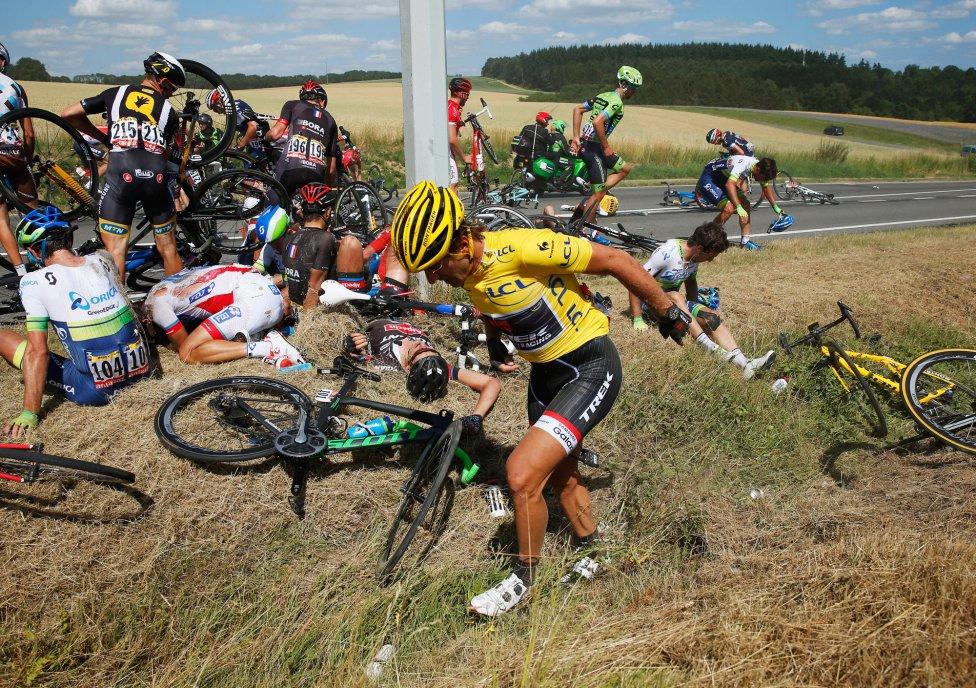 Las imágenes de la Caída en la tercera etapa del Tour de Francia